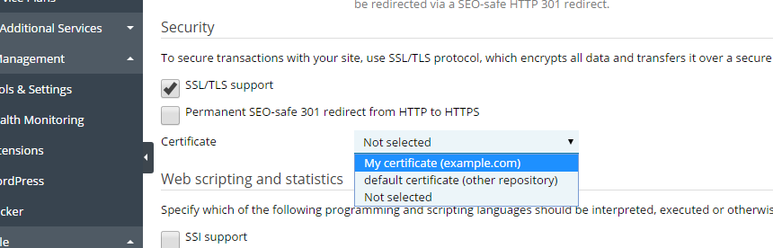 Enable SSL support