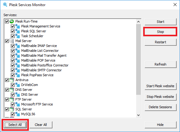 How to restore Plesk installation on a new Windows server after