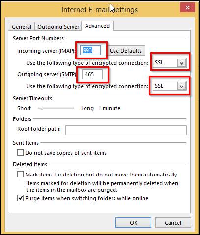 Outlook shows warning: the server to which you are connected uses a ...