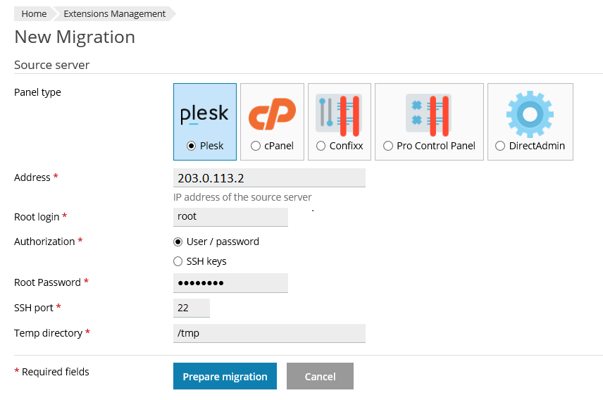 Plesk Migration and Transfer Guide – Plesk Help Center