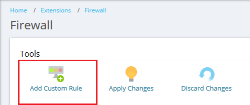 How to manage firewall rules on a Plesk for Linux server