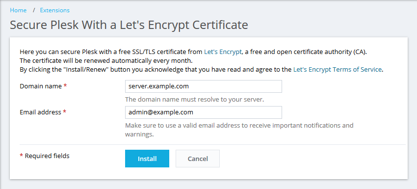 How To Secure A Plesk Hostname On Port 8443 With An Ssl Certificate
